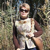 Одежда ручной работы. Ярмарка Мастеров - ручная работа Жилет  валяный  Листопад. Handmade.