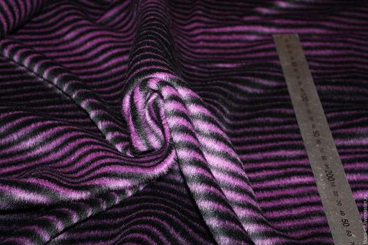 Шитье ручной работы. Ярмарка Мастеров - ручная работа. Купить Ткань роскошная пальтовая шерсть полоса. Handmade. Комбинированный