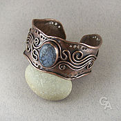 Украшения handmade. Livemaster - original item Bracelet made of copper with agate. Handmade.