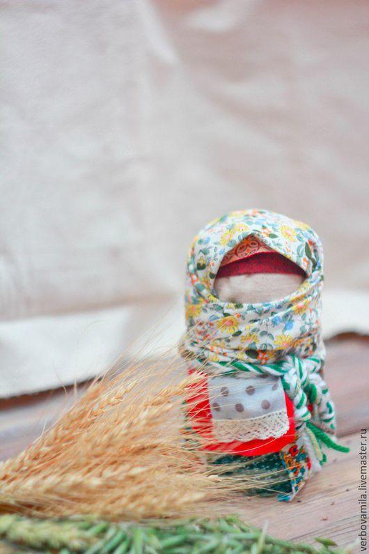 Народные куклы ручной работы. Ярмарка Мастеров - ручная работа. Купить Зерновушка (Крупеничка). Handmade. Зерновушка, кукла в подарок, ситец