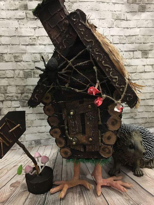 """Сказочные персонажи ручной работы. Ярмарка Мастеров - ручная работа. Купить """"Ежкин дом !). Handmade. Избушка, интерьерная игрушка"""