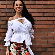 Одежда ручной работы. Ярмарка Мастеров - ручная работа Супер модная блуза из батиста.. Handmade.