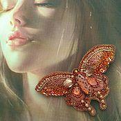"""Украшения ручной работы. Ярмарка Мастеров - ручная работа Брошь-бабочка """"Пыльный Кедр"""". Handmade."""