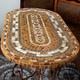 Это компактный овальный обеденный стол на кухню или просторный кофейный стол для веранды или беседки
