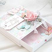 Открытки ручной работы. Ярмарка Мастеров - ручная работа Свадебная коробочка для денежного подарка. Handmade.