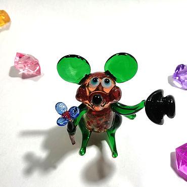 Souvenirs and gifts handmade. Livemaster - original item Mouse Bonjour green. Handmade.