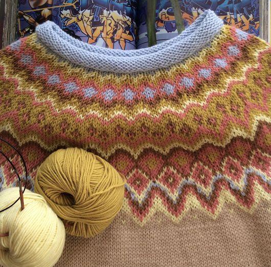 Кофты и свитера ручной работы. Ярмарка Мастеров - ручная работа. Купить Пудровый джемпер. Handmade. Лопапейса, красивый джемпер