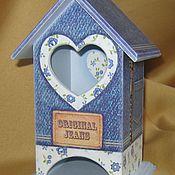 Для дома и интерьера ручной работы. Ярмарка Мастеров - ручная работа Чайный домик « Джинсовый ». Handmade.