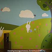 Для дома и интерьера ручной работы. Ярмарка Мастеров - ручная работа Стена в игровой комнате. Handmade.