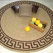 Для дома и интерьера ручной работы. Ярмарка Мастеров - ручная работа Ковер ручной работы «Греческий орнамент: Меандр» -   вязанный из джута. Handmade.