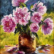 Картины и панно handmade. Livemaster - original item Oil painting Bouquet of peonies.. Handmade.