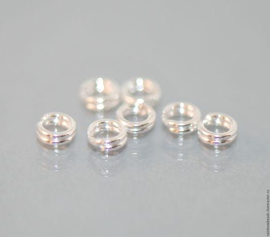 колечки соединительные серебро; серебряные соединительные колечки; кольца соединительные; фурнитура серебро 925 пробы; серебряные колечки; купить колечки серебро; колечки двойные серебро 925 пробы