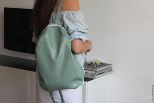 Рюкзаки ручной работы. Ярмарка Мастеров - ручная работа. Купить Мятный рюкзак. Handmade. Мятный, городской рюкзак, лаконичный рюкзак