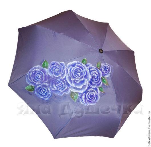 """Зонты ручной работы. Ярмарка Мастеров - ручная работа. Купить Зонт женский  с ручной росписью """"Розы"""". Handmade. Зонт"""