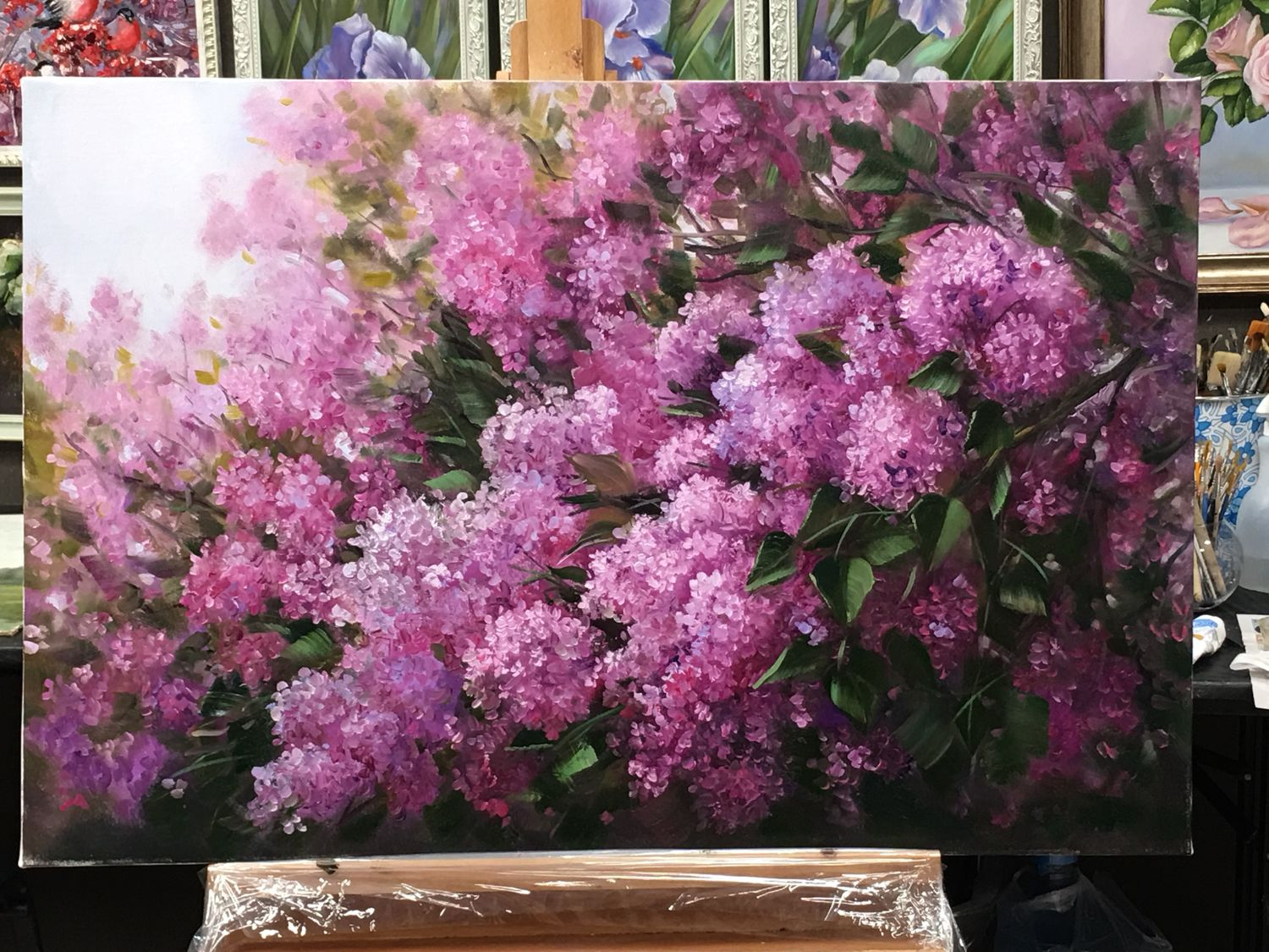 Oil painting 'lilacs', Pictures, Moscow,  Фото №1