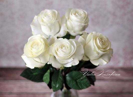 Интерьерные композиции ручной работы. Ярмарка Мастеров - ручная работа. Купить Интерьерные розы из фоамирана. Handmade. Белые розы