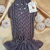 Для домашних животных, ручной работы. Ярмарка Мастеров - ручная работа Платье туника вязаное для собак той терьер чихуахуа йоркширский терьер. Handmade.