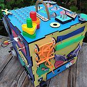 Бизиборды ручной работы. Ярмарка Мастеров - ручная работа Бизиборд бизикуб со светом и звуковым сопровождением 30х30 см. Handmade.