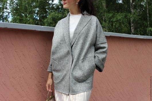VERVE/fashion clothes Пальто облегченное из лодена  Повторим модель на заказ по вашим меркам Ярмарка мастеров