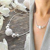 Украшения handmade. Livemaster - original item Necklace minimalism balls - stylish decoration for every day. Handmade.