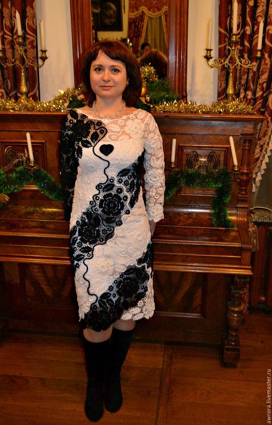 """Платья ручной работы. Ярмарка Мастеров - ручная работа. Купить Платье """" Черное сердце"""". Handmade. Ирландское кружево"""