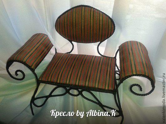 Мебель ручной работы. Ярмарка Мастеров - ручная работа. Купить Кресло для кукол. Handmade. Кресло для куклы, мебель для кукол, синтепон