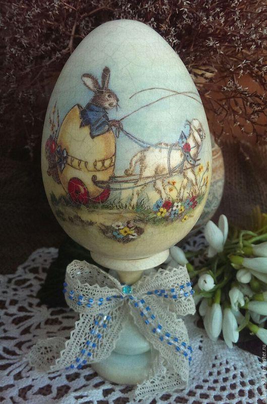 """Подарки на Пасху ручной работы. Ярмарка Мастеров - ручная работа. Купить """" На встречу к Пасхе"""" Интерьерное яичко. Handmade."""