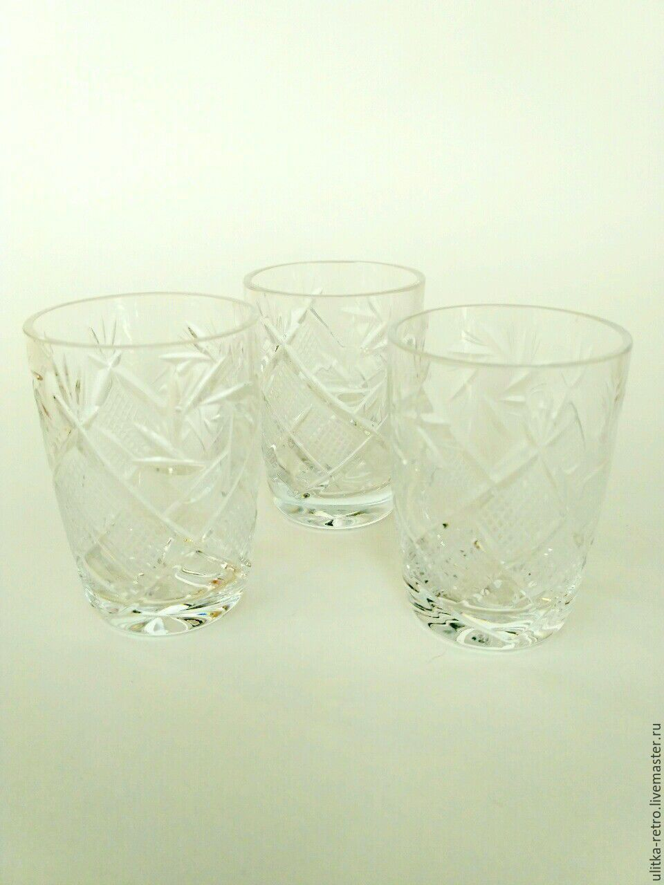 Glasses crystal, Vintage glasses, Moscow,  Фото №1