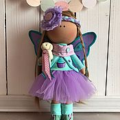 Куклы и игрушки ручной работы. Ярмарка Мастеров - ручная работа Интерьерная текстильная кукла Бабочка Элина. Handmade.
