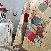 """Для дома и интерьера ручной работы. Ярмарка Мастеров - ручная работа """" Из бабушкиного сундука"""" - лоскутный плед. Handmade."""