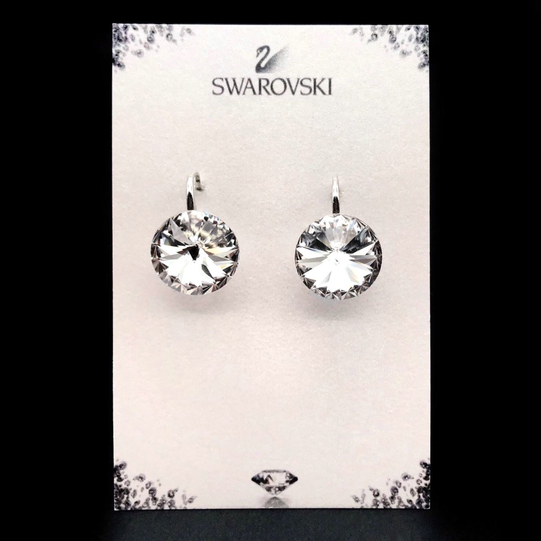 Swarovskies silver earrings sterling silver earrings 925_Swarovski, Earrings, Vyshny Volochyok,  Фото №1