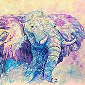 Картины и панно handmade. Livemaster - original item Elephant painting