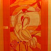 Для дома и интерьера ручной работы. Ярмарка Мастеров - ручная работа Витражная вставка в межкомнатную дверь. Handmade.