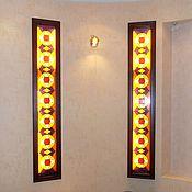 Для дома и интерьера handmade. Livemaster - original item Paired geometric stained glass illuminated. Film stained-glass Windows. Handmade.