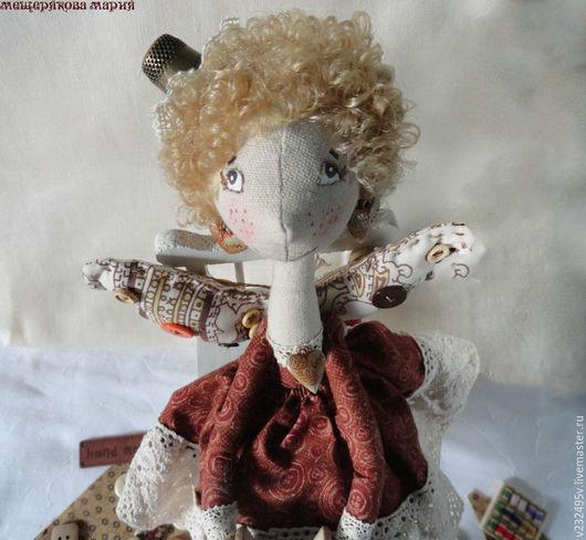 Коллекционные куклы ручной работы. Ярмарка Мастеров - ручная работа. Купить Кукла Швеюшка Феюшка. Handmade. Бежевый, рукодельнице, фея