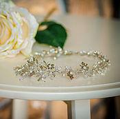 Свадебный салон handmade. Livemaster - original item Wedding wreath in her hair. Silver maple.. Handmade.