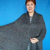 Аксессуары handmade. Livemaster - original item 246 stole down Orenburg scarf gray. Handmade.