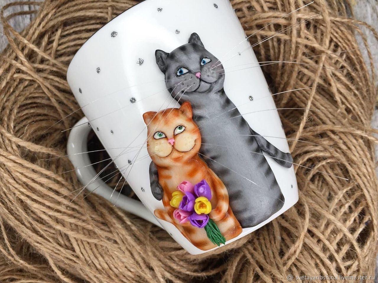 """""""Влюбленные коты"""", Кружки, Москва,  Фото №1"""