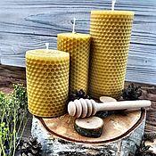 Свечи ручной работы. Ярмарка Мастеров - ручная работа Экосвечи из натуральной вощины. Handmade.