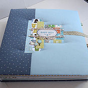 Канцелярские товары ручной работы. Ярмарка Мастеров - ручная работа Альбом для новорожденного baby boy. Handmade.