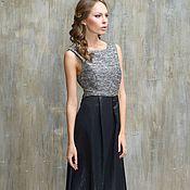 Одежда handmade. Livemaster - original item Evening dress long to the floor black with silver top.. Handmade.