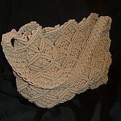 Плетеная женская сумка-баул