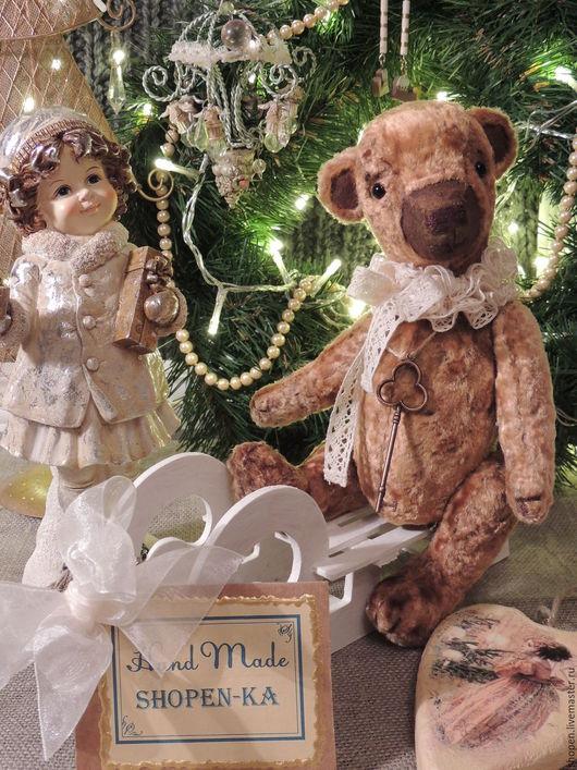Мишки Тедди ручной работы. Ярмарка Мастеров - ручная работа. Купить Плюшевый медвежонок Muffin. Handmade. Коричневый, плюшевое сердце