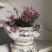 Винтаж handmade. Livemaster - original item Porcelain flower vase, Meissen, Germany. Handmade.