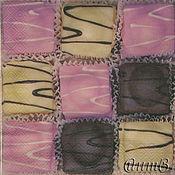 Материалы для творчества handmade. Livemaster - original item Napkin for decoupage candy chocolate print. Handmade.