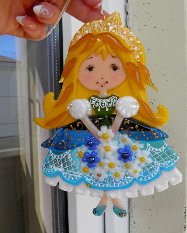Елочная игрушка. Принцессы. Стекло.Фьюзинг, Сувениры, Краснодар, Фото №1