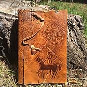 """Блокноты ручной работы. Ярмарка Мастеров - ручная работа Кожаный блокнот """"Будь на коне"""" арт. 01 06 01. Handmade."""