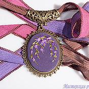 Украшения handmade. Livemaster - original item Embroidered pendant