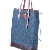 Сумки и аксессуары handmade. Livemaster - original item Shopping bag package genuine leather and wool. Handmade.