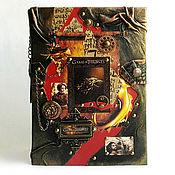 """Канцелярские товары ручной работы. Ярмарка Мастеров - ручная работа Ежедневник """"Игра престолов-Арья и Дэйнерис"""" натуральная кожа. Handmade."""